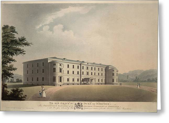 General Infirmary At Sheffield England. Greeting Card