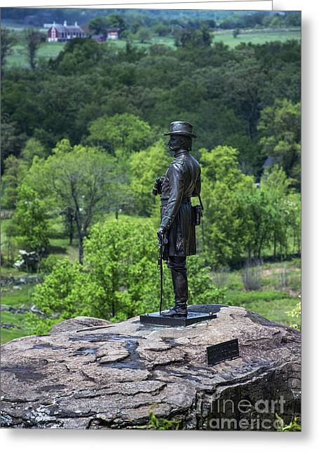 General Kemble Warren At Little Round Top Greeting Card