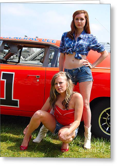 General Lee's Girls Greeting Card by Mark Spearman