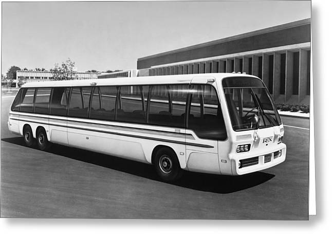 General Motors' Rtx Bus Greeting Card by Underwood Archives