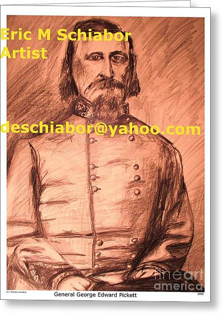 General Pickett Confederate  Greeting Card by Eric  Schiabor