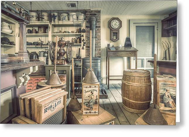 General Store - 19th Century Seaport Village Greeting Card by Gary Heller