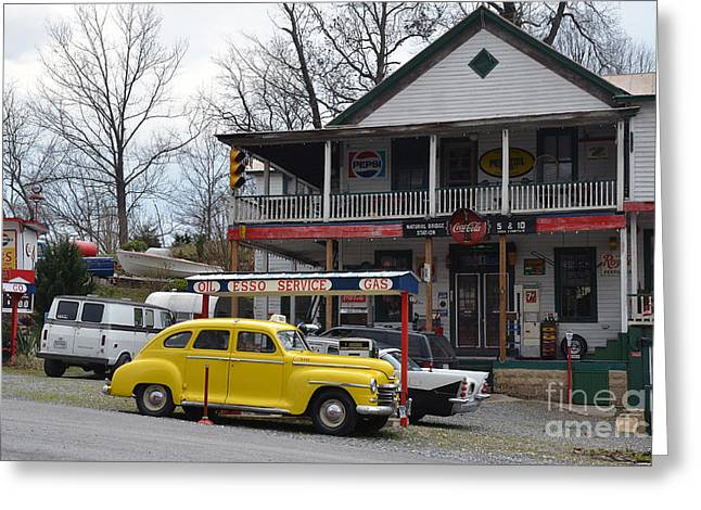 General Store Greeting Card by Brenda Dorman