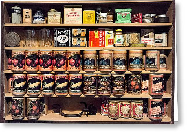 Greeting Card featuring the photograph General Store Goods by Vicki DeVico