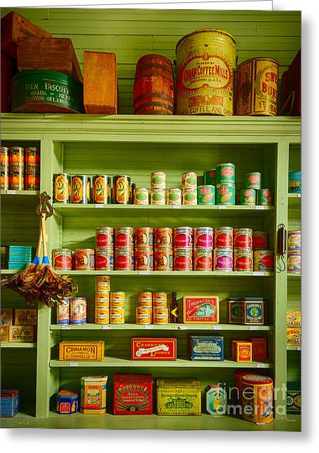 General Store Merchandise Greeting Card by Inge Johnsson