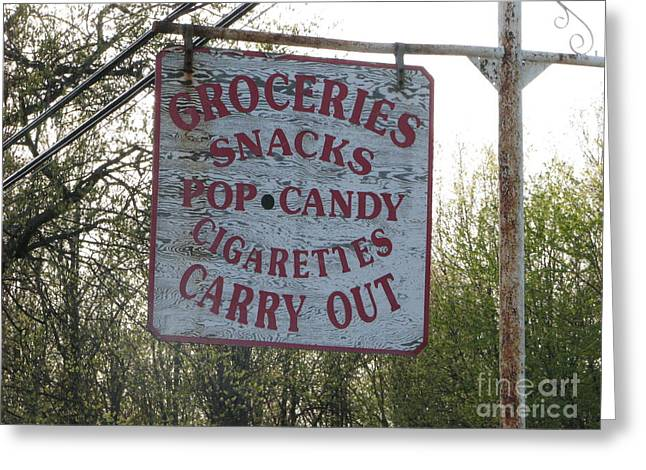 Greeting Card featuring the photograph General Store by Michael Krek