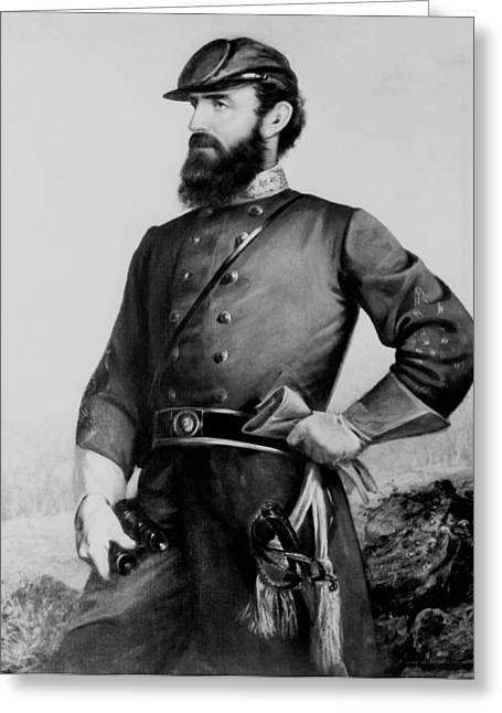 General Thomas Stonewall Jackson Greeting Card by Mountain Dreams