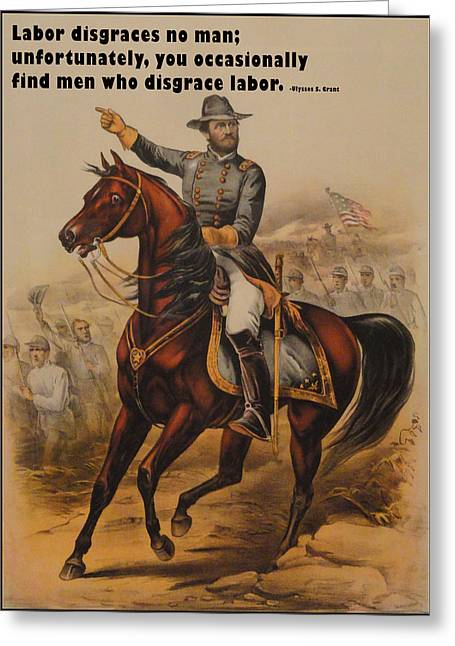 General Ulysses S. Grant Greeting Card by Currier and Ives