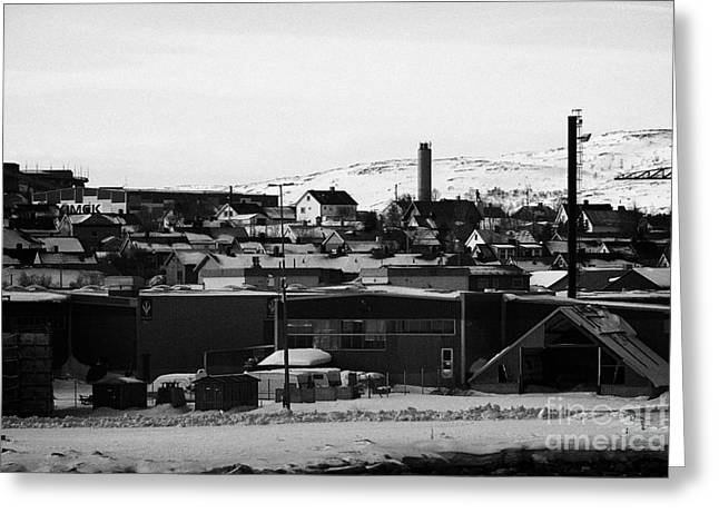 General View Across Kirkenes Finnmark Norway Europe Greeting Card by Joe Fox