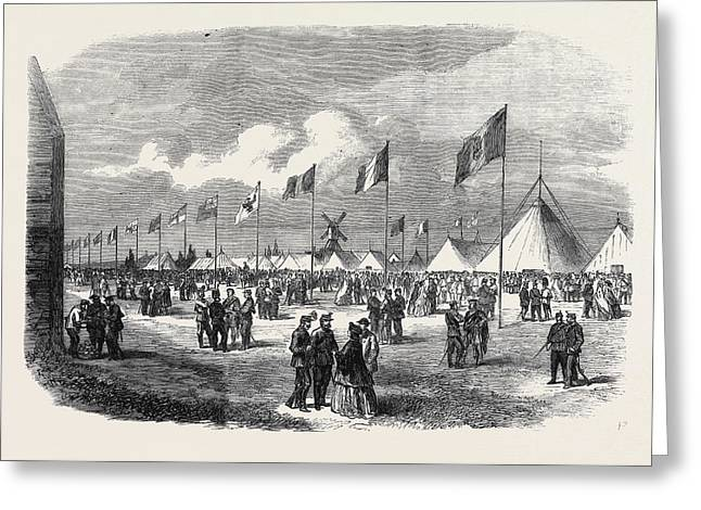 General View Of The Ground And Tents National Rifle Greeting Card