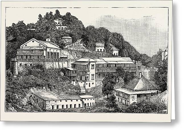 General View Of The Happy Valley, The Duke And Duchess Greeting Card by English School