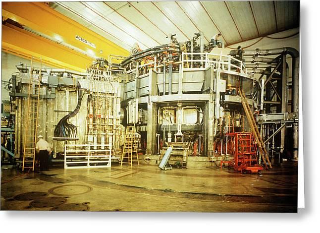 General View Of Tokamak Fusion Test Reactor Greeting Card