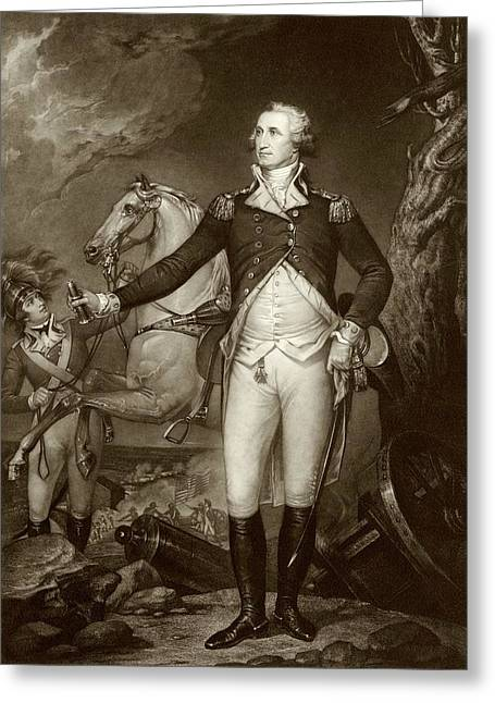 General Washington At Trenton Greeting Card by American Philosophical Society