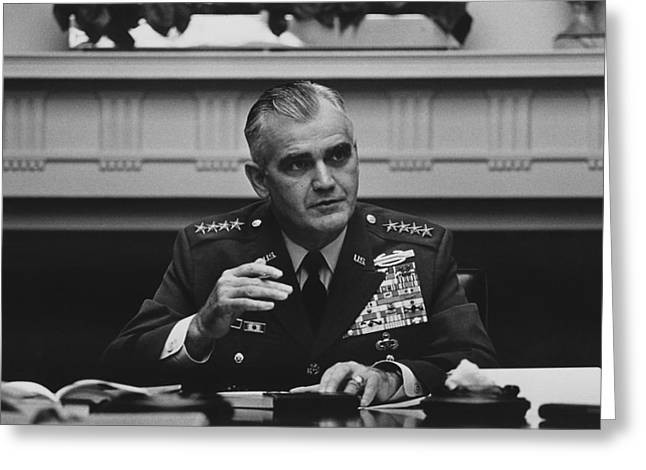 General William Westmoreland -- Vietnam War Greeting Card by War Is Hell Store