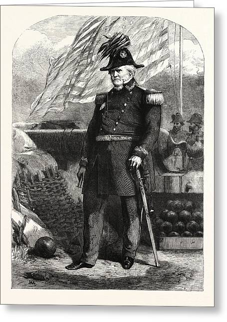 General Winfield Scott Commander-in-chief Of The United Greeting Card by American School