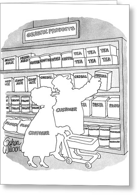 'generic Products' Greeting Card by Gahan Wilson
