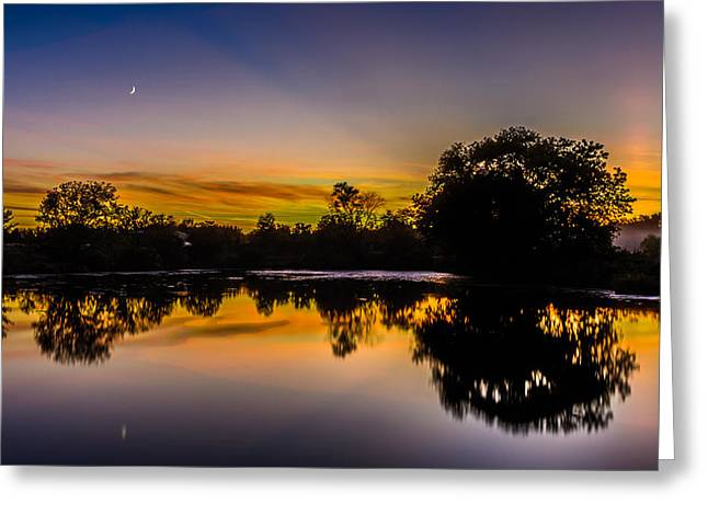 Genesee Mill Pond Sunset Greeting Card