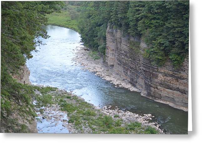 Genesee River In Grand Canyon Of East Greeting Card by Sonali Gangane