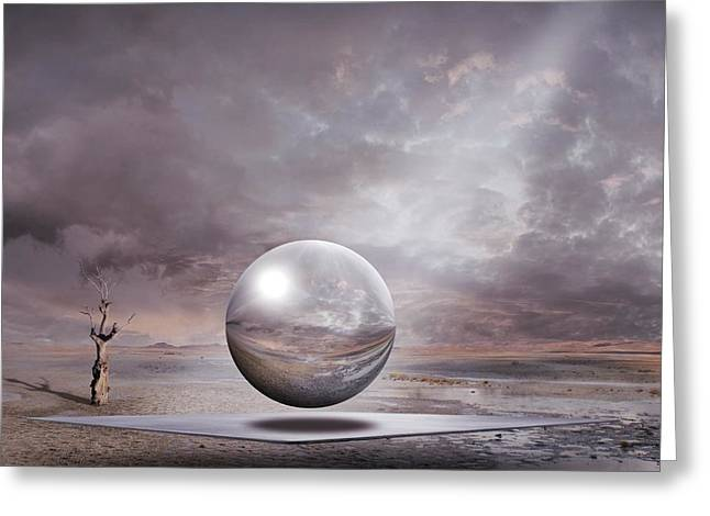 Greeting Card featuring the digital art Genesis by Franziskus Pfleghart