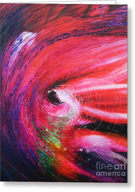 Greeting Card featuring the painting Genesis by Jeanette French