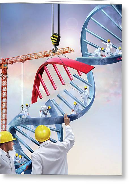 Genetic Engineering Greeting Card by Smetek/science Photo Library