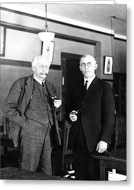 Geneticists Bateson And Emerson Greeting Card