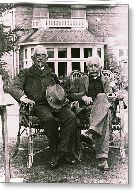 Geneticists Johannsen And Bateson Greeting Card