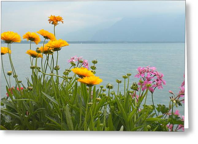 Geneva Flowers Greeting Card by Teresa Tilley