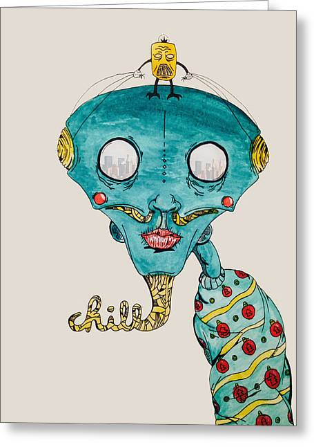 Genie Of Chill York Greeting Card by Virgil Angeles