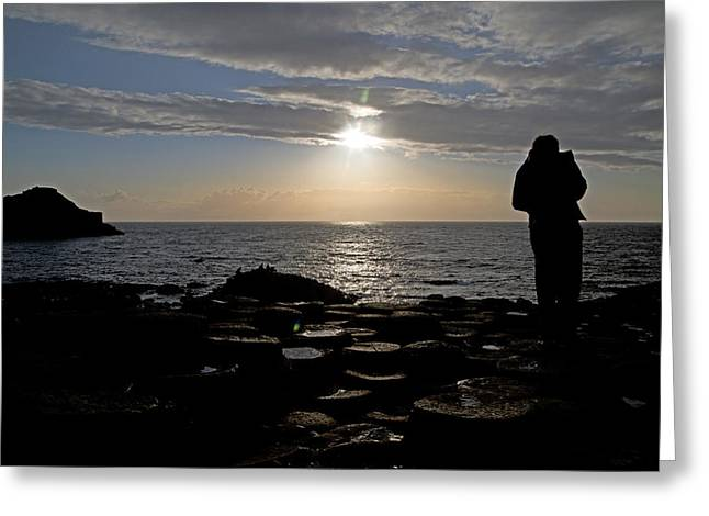 Genius In The Light -- Giant's Causeway -- Ireland Greeting Card by Betsy Knapp