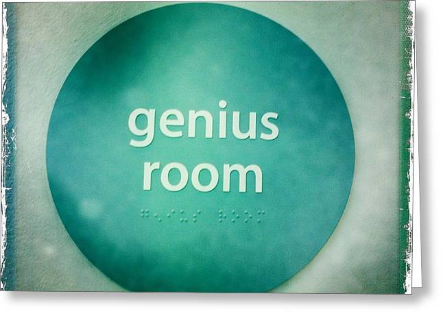 Greeting Card featuring the photograph Genius Room by Nina Prommer