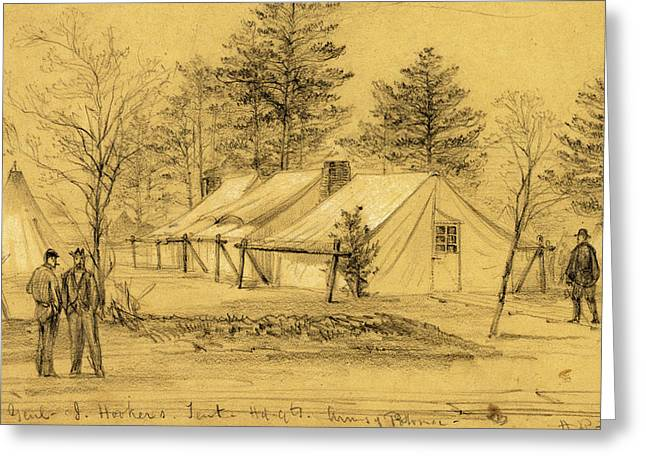 Genl. J. Hookers. Tent Hdqts. Army Of Potomac Greeting Card