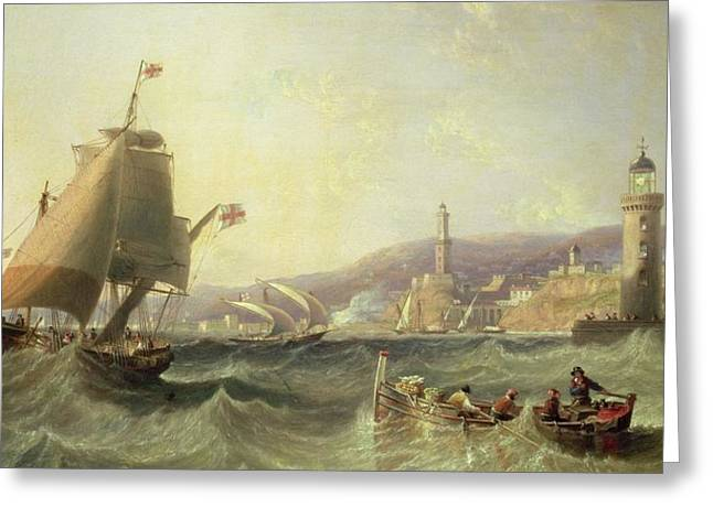 Genoa Greeting Card by John Wilson Carmichael