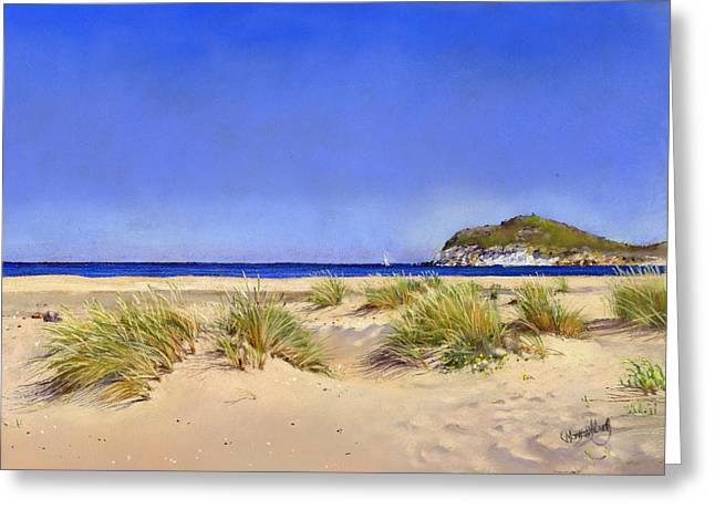 Genoveses Beach Greeting Card by Margaret Merry