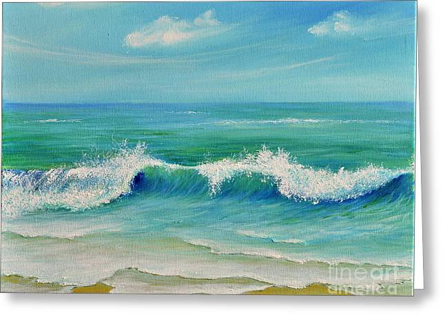 Gentle Breeze Greeting Card by Teresa Wegrzyn