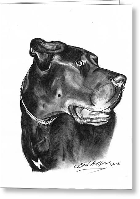 Gentle Giant' Greeting Card by Barb Baker