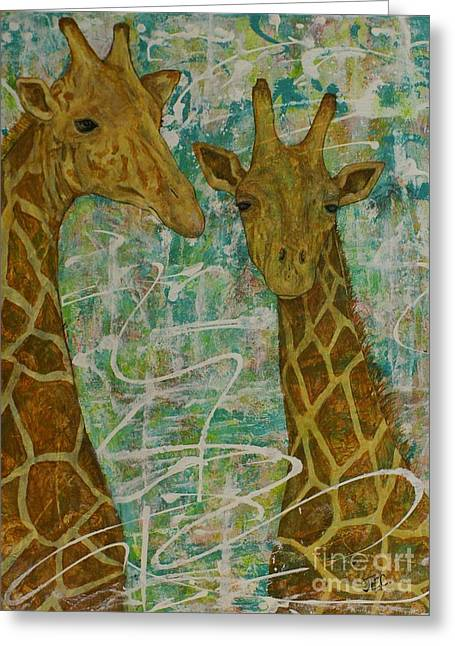 Greeting Card featuring the painting Gentle Giants by Jane Chesnut