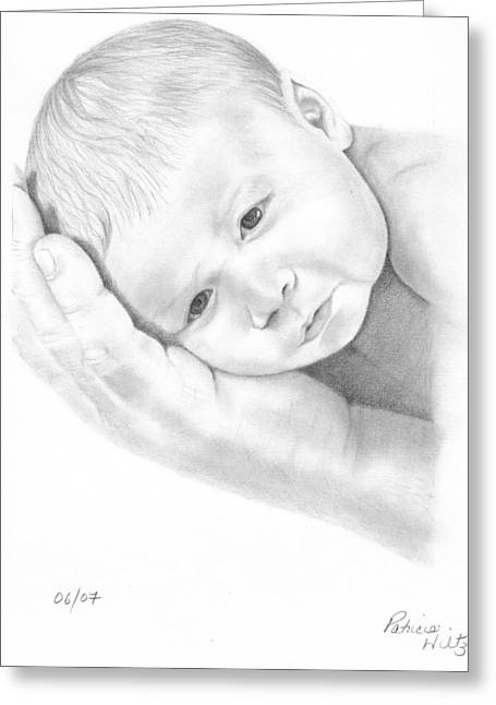 Gentle Innocence Greeting Card by Patricia Hiltz