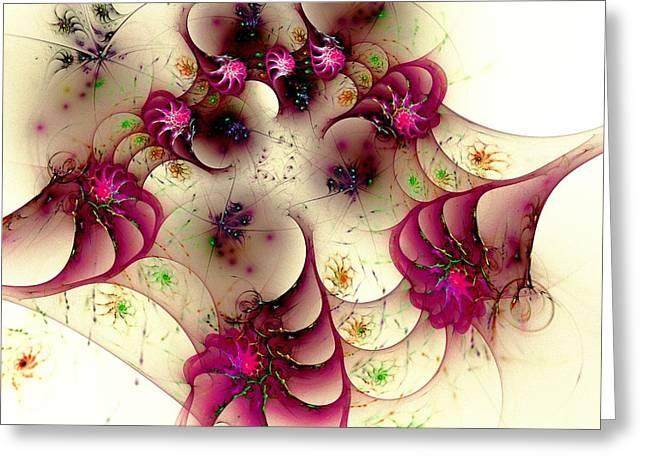 Gentle Pink Greeting Card by Anastasiya Malakhova