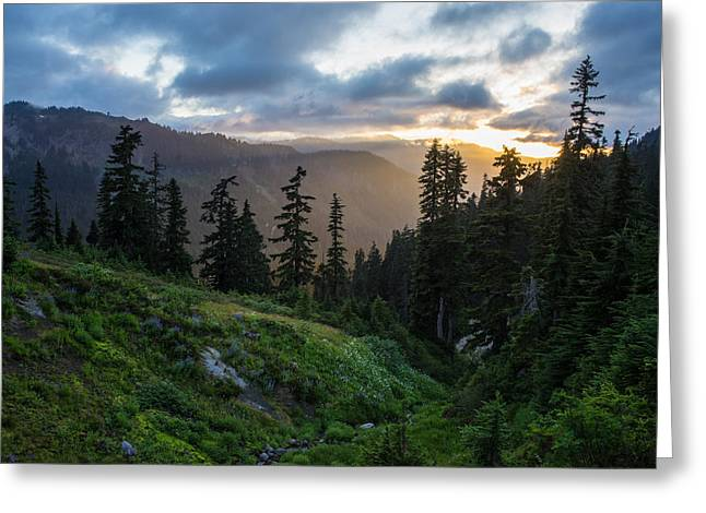 Gentle Slopes At Dusk Greeting Card by Mike Reid