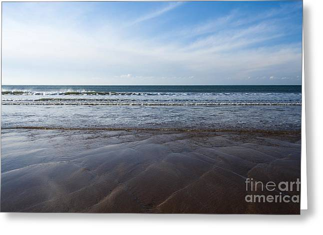 Gentle Waves Greeting Card by Anne Gilbert