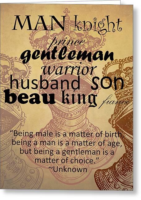 Gentleman 3 Greeting Card