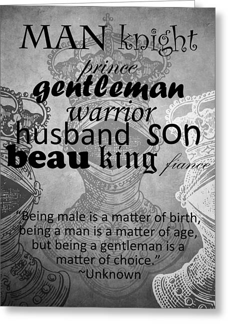 Gentleman 4 Greeting Card by Angelina Vick