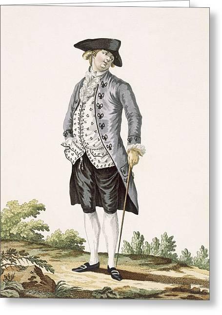 Gentleman In Grey Walking Suit Greeting Card