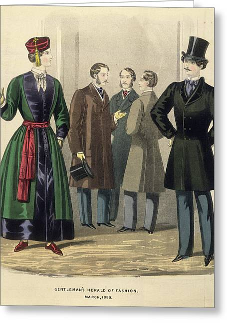 Gentleman's Fashion Greeting Card by British Library