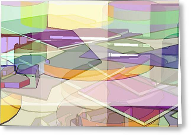 Greeting Card featuring the digital art Geo-art by Cathy Anderson