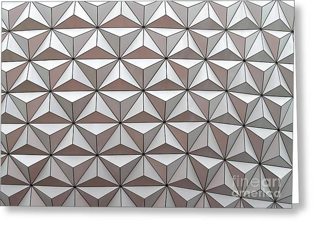 Geodesic Greeting Card by Sabrina L Ryan