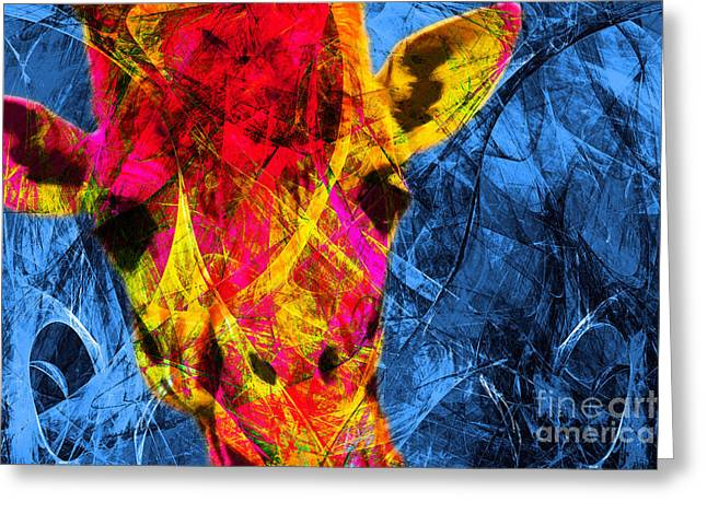 Geoffrey Giraffe 7d4133 Greeting Card by Wingsdomain Art and Photography