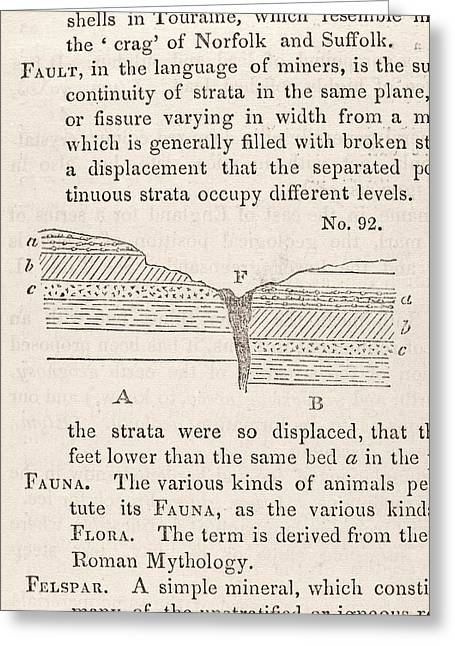 Geological Fault Greeting Card by Science, Industry And Business Library: General Collection/new York Public Library