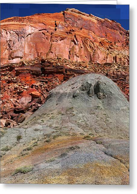 Geology Triptych - One Greeting Card